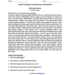 Reading Worksheets   Fifth Grade Reading Worksheets [ 2200 x 1700 Pixel ]