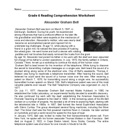 Reading Worksheets   Sixth Grade Reading Worksheets [ 1650 x 1275 Pixel ]