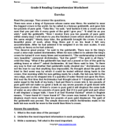 Reading Worksheets   Eighth Grade Reading Worksheets [ 2200 x 1700 Pixel ]