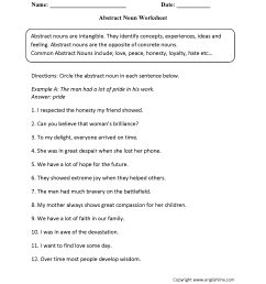 Parts Speech Worksheets   Noun Worksheets [ 2200 x 1700 Pixel ]