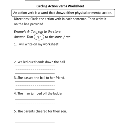 Verbs Worksheets   Action Verbs Worksheets [ 1782 x 1301 Pixel ]
