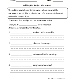 Englishlinx.com   Subject and Predicate Worksheets [ 1331 x 1003 Pixel ]