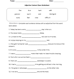 Reading Worksheets   Context Clues Worksheets [ 1188 x 910 Pixel ]