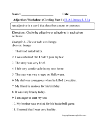medium resolution of 3rd Grade Common Core   Language Worksheets
