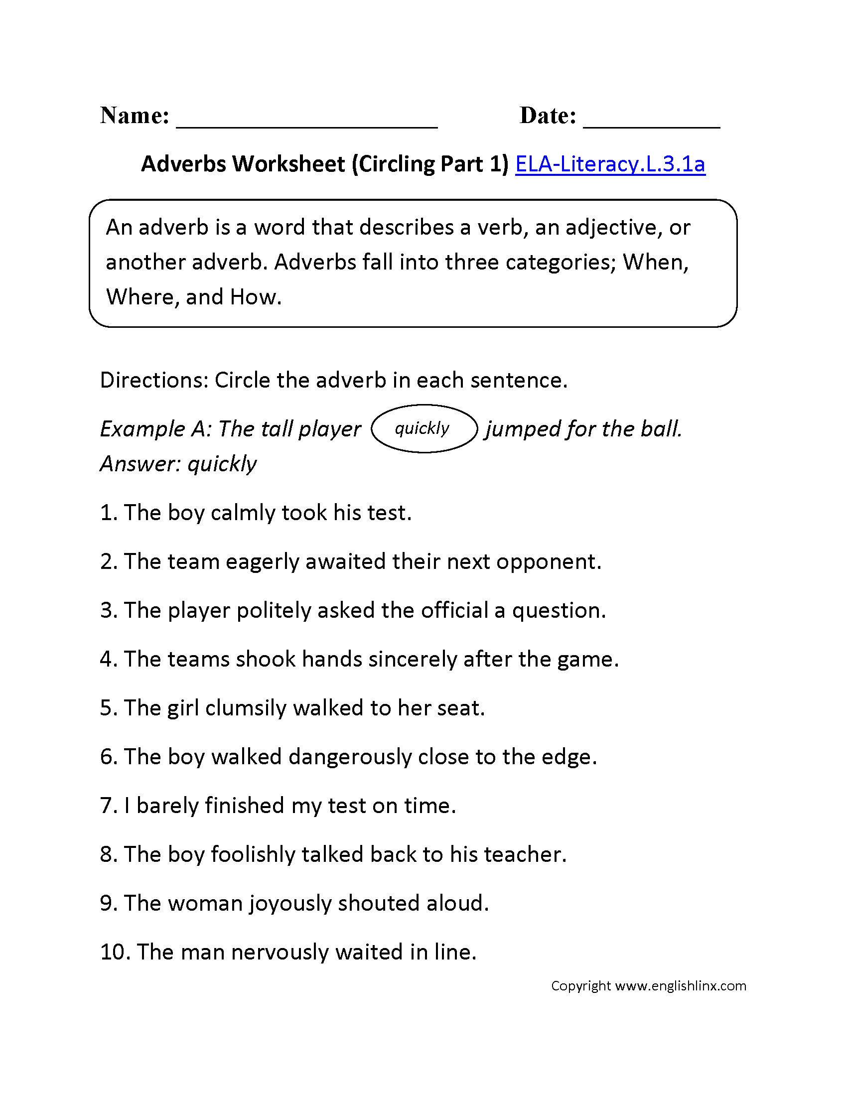 hight resolution of 3rd Grade Common Core   Language Worksheets