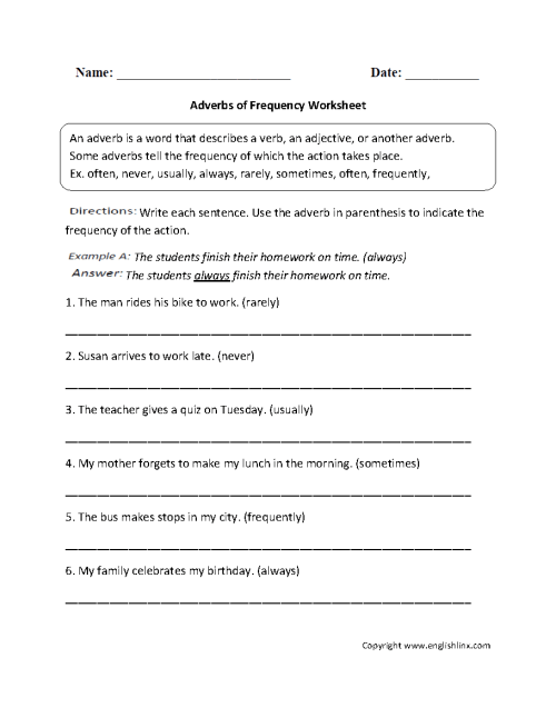 small resolution of Parts Speech Worksheets   Adverb Worksheets
