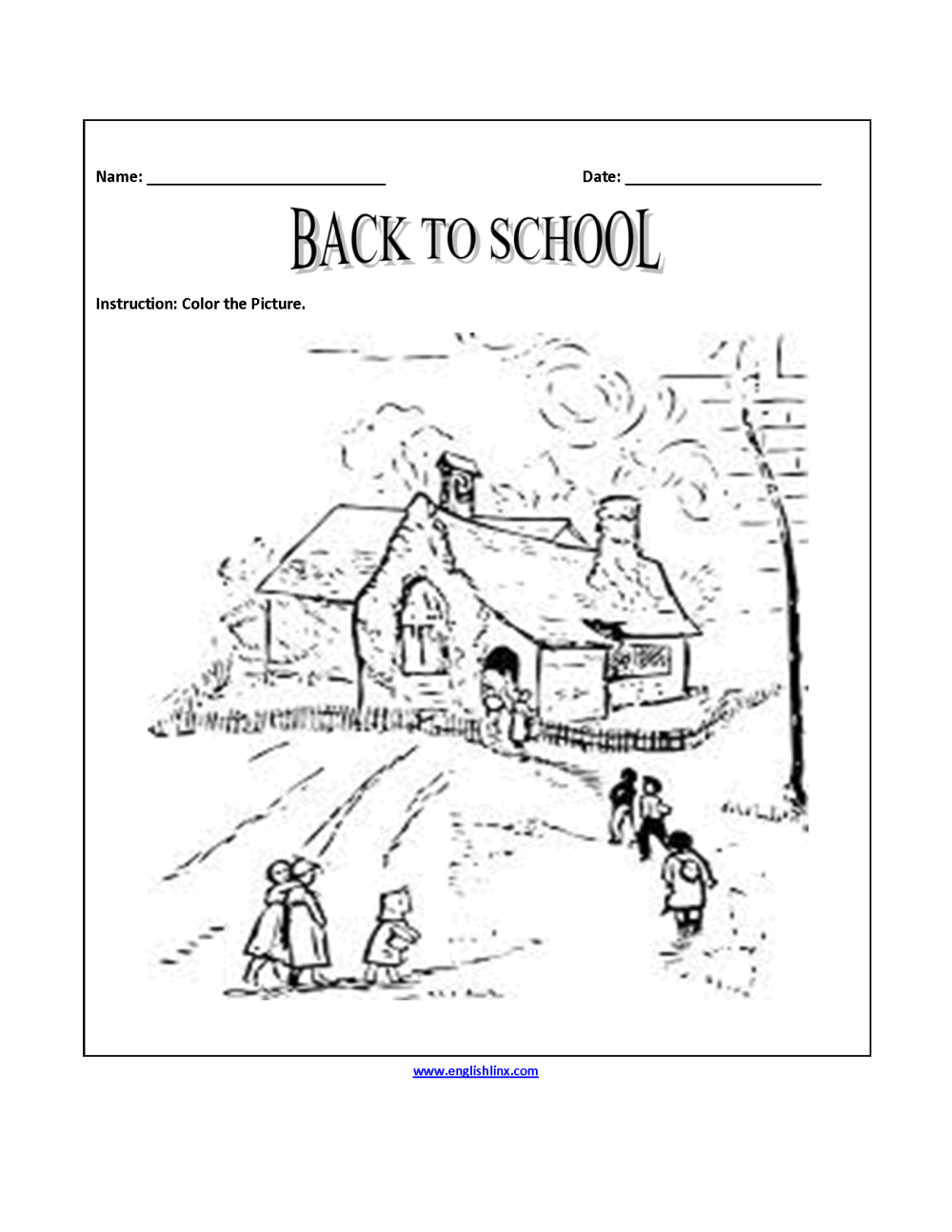 medium resolution of Englishlinx.com   Back to School Worksheets