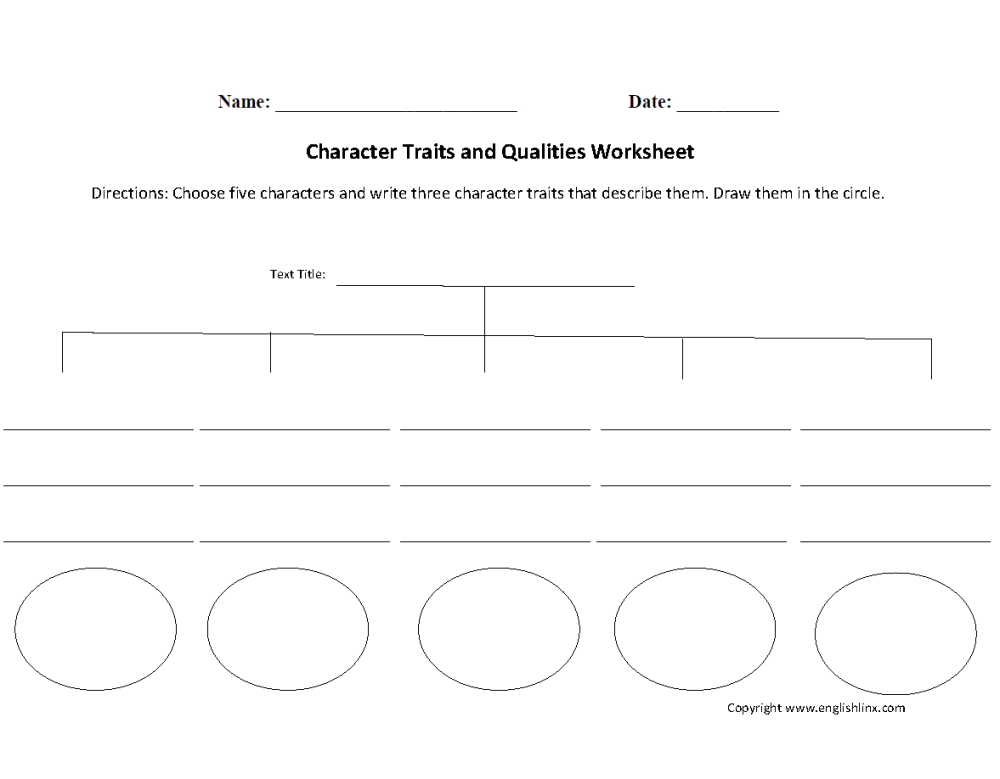 medium resolution of Reading Worksheets   Character Traits Worksheets
