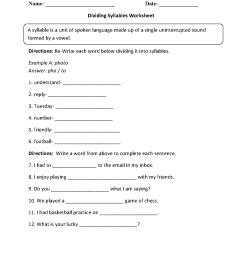 Englishlinx.com   Syllables Worksheets [ 1662 x 1275 Pixel ]