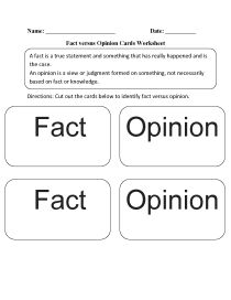 small resolution of Reading Worksheets   Fact and Opinion Worksheets