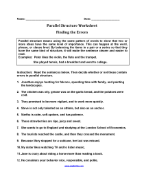 medium resolution of Englishlinx.com   Parallel Structure Worksheets