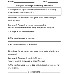 Englishlinx.com   Metaphors Worksheets [ 2200 x 1700 Pixel ]