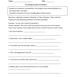 Figurative Language Worksheets   Paradox Worksheets [ 1662 x 1275 Pixel ]