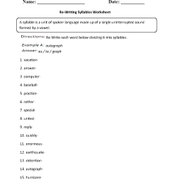 Englishlinx.com   Syllables Worksheets [ 1331 x 1012 Pixel ]