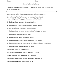 Englishlinx.com   Subject and Predicate Worksheets [ 1662 x 1275 Pixel ]