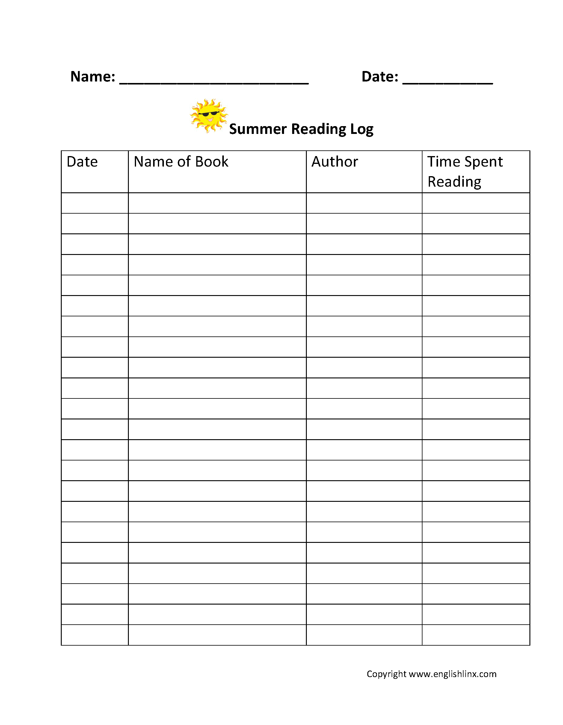 hight resolution of Reading Worksheets   Reading Logs