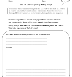 Writing Prompts Worksheets   Informative and Expository Writing Prompts  Worksheets [ 1662 x 1275 Pixel ]