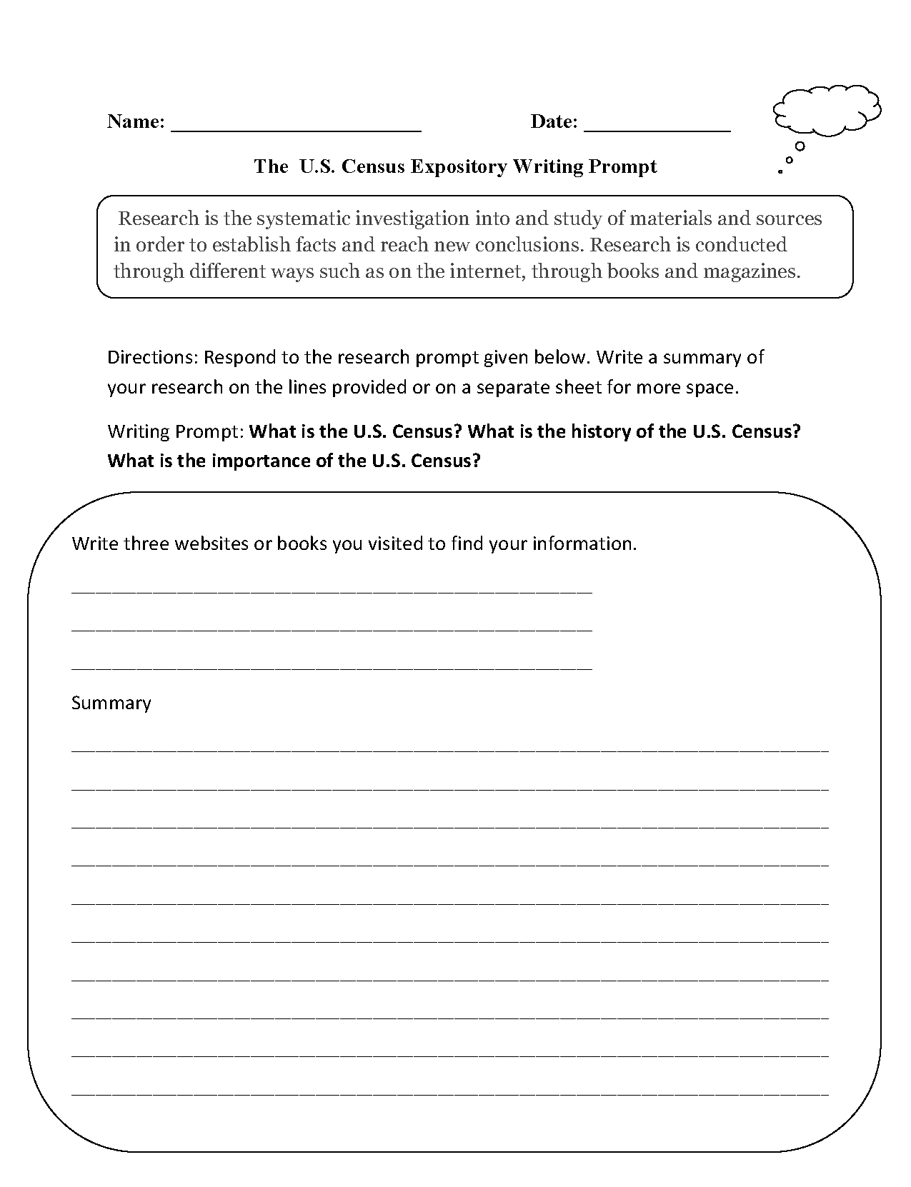 hight resolution of Writing Prompts Worksheets   Informative and Expository Writing Prompts  Worksheets
