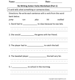 Verbs Worksheets   Action Verbs Worksheets [ 2200 x 1700 Pixel ]
