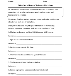 Reading Worksheets   Inference Worksheets [ 2200 x 1700 Pixel ]