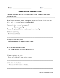 hight resolution of Sentence Structure Worksheets   Types of Sentences Worksheets