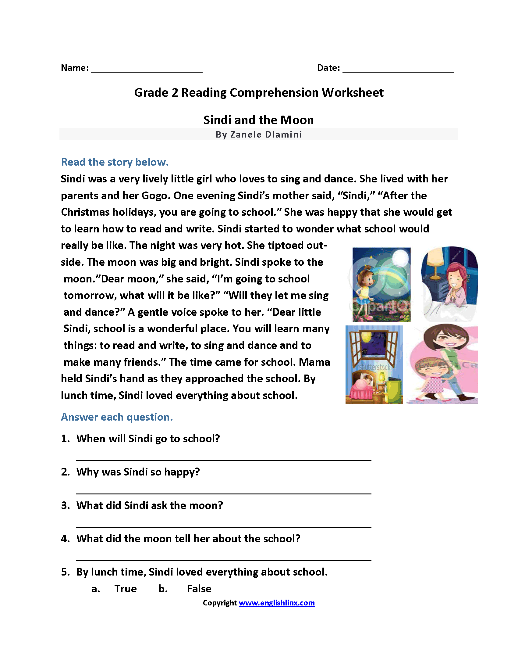 Free Printable Writing Worksheet For 2nd Grade