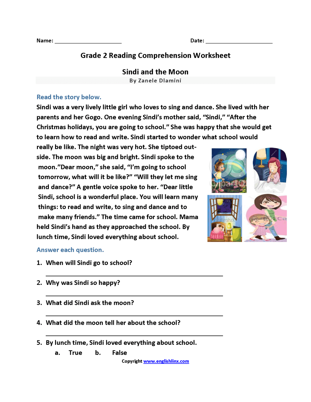 medium resolution of Reading Worksheets   Second Grade Reading Worksheets