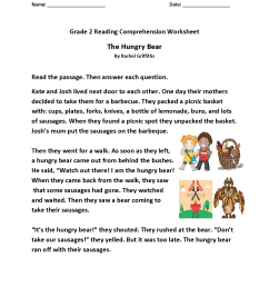 Reading Worksheets   Second Grade Reading Worksheets [ 1650 x 1275 Pixel ]