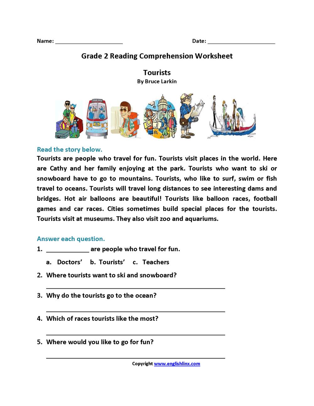 medium resolution of Reading Worksheets   Second Grade Reading Worksheets