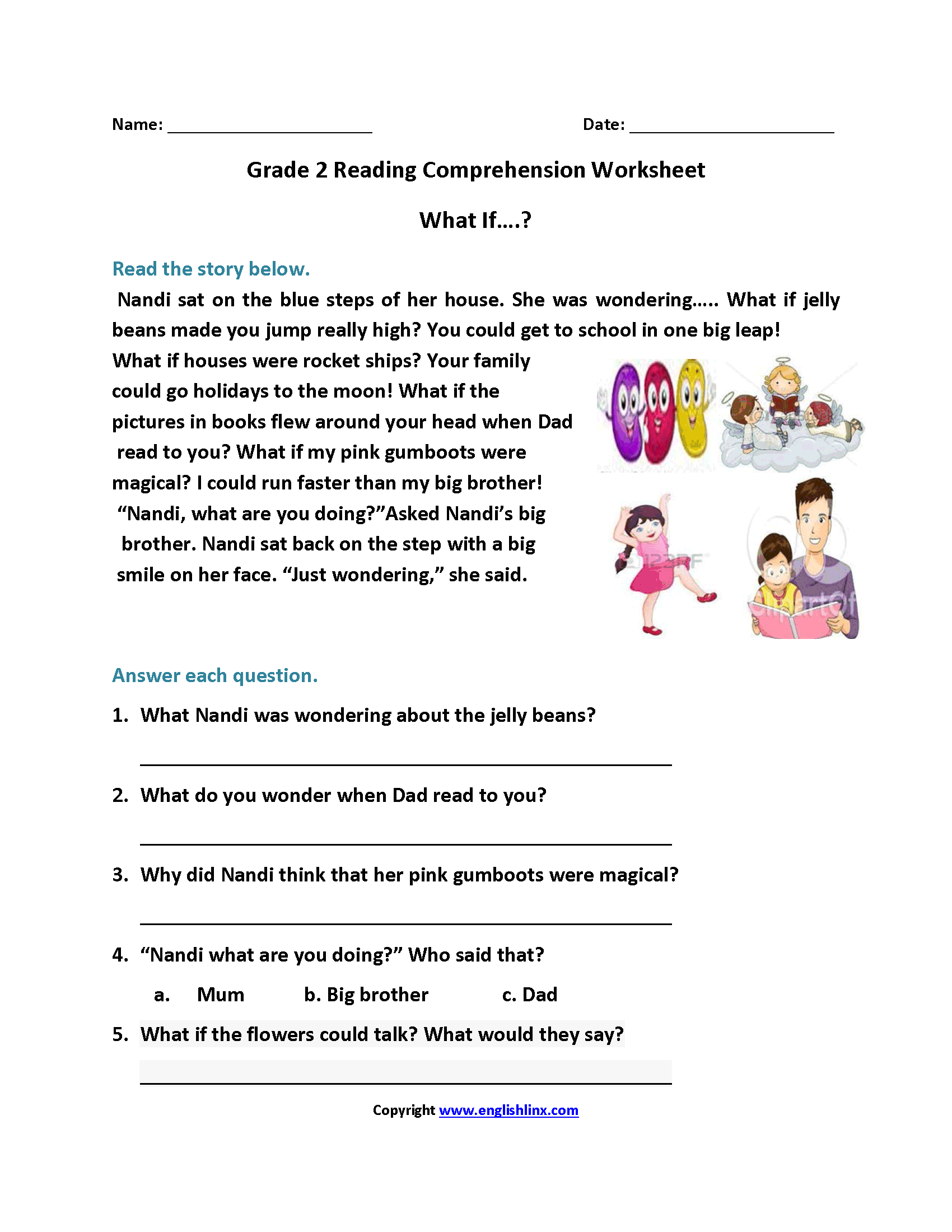 2nd Grade Homework Worksheets