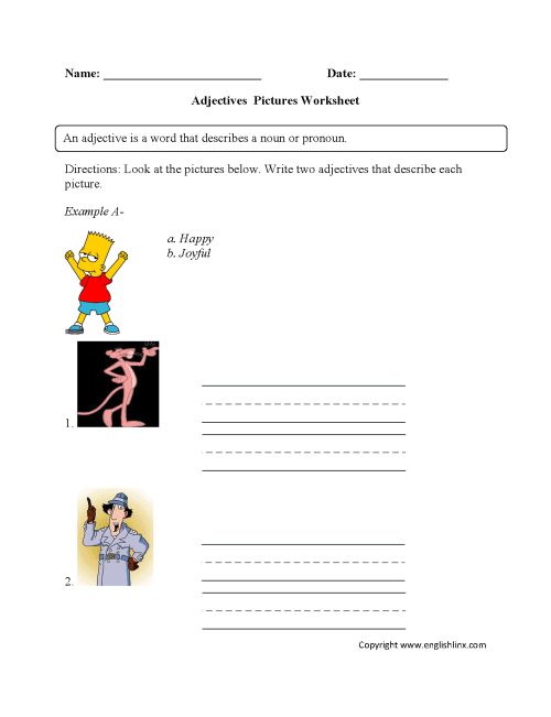 small resolution of Regular Adjectives Worksheets   Pictures Adjectives Worksheet Part 1