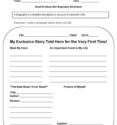 Back to School Worksheets   Read All About Me Back to School Worksheets [ 1683 x 1275 Pixel ]