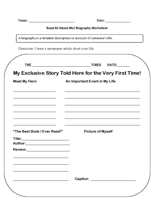 hight resolution of Back to School Worksheets   Read All About Me Back to School Worksheets