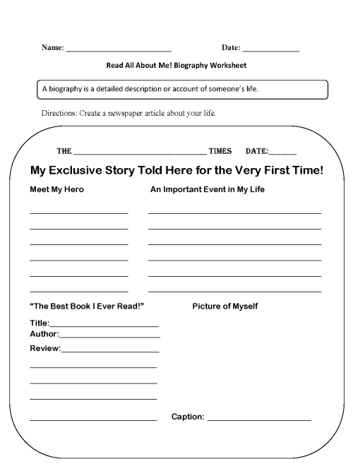 small resolution of Back to School Worksheets   Read All About Me Back to School Worksheets