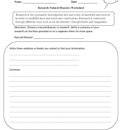 Research Worksheets   Research Natural Disasters Worksheet [ 1662 x 1275 Pixel ]
