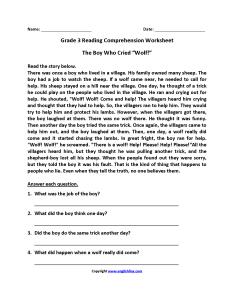 Third grade reading worksheets also english rh englishlinx