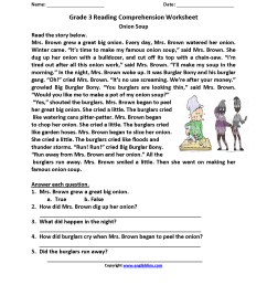 Reading Worksheets   Third Grade Reading Worksheets [ 2200 x 1700 Pixel ]