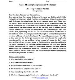 Reading Worksheets   Fourth Grade Reading Worksheets [ 2200 x 1700 Pixel ]