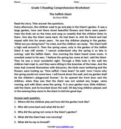 Reading Worksheets   Fifth Grade Reading Worksheets [ 2200 x 1700 Pixel ]
