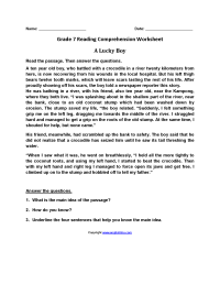 worksheet. Free Printable 7th Grade Reading Comprehension ...