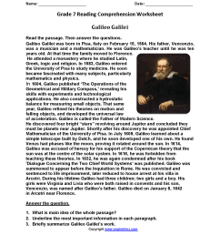 Reading Worksheets For Seventh Grade   Printable Worksheets and Activities  for Teachers [ 2200 x 1700 Pixel ]