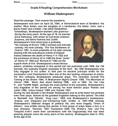 Reading Worksheets   Eighth Grade Reading Worksheets [ 1650 x 1275 Pixel ]
