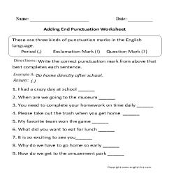 Englishlinx.com   Punctuation Worksheets [ 869 x 910 Pixel ]