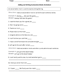 Englishlinx.com   Exclamation Marks Worksheets [ 1188 x 910 Pixel ]