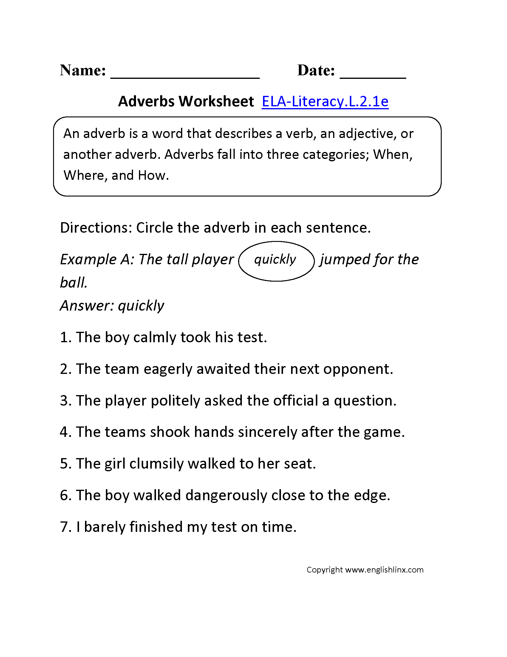 Worksheet Adverb Worksheets 4th Grade Grass Fedjp Worksheet Study Site