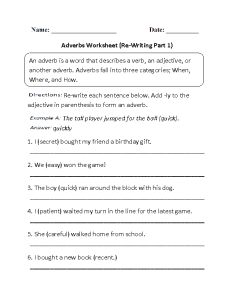 Adverbs worksheet part also worksheets regular rh englishlinx