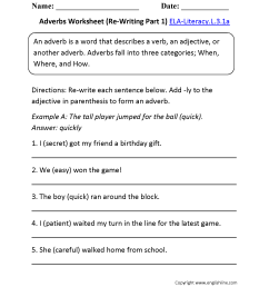 Adverbial Clause Of Place Worksheet   Printable Worksheets and Activities  for Teachers [ 2200 x 1700 Pixel ]