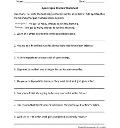 Punctuation Worksheets   Apostrophe Worksheets [ 1166 x 884 Pixel ]
