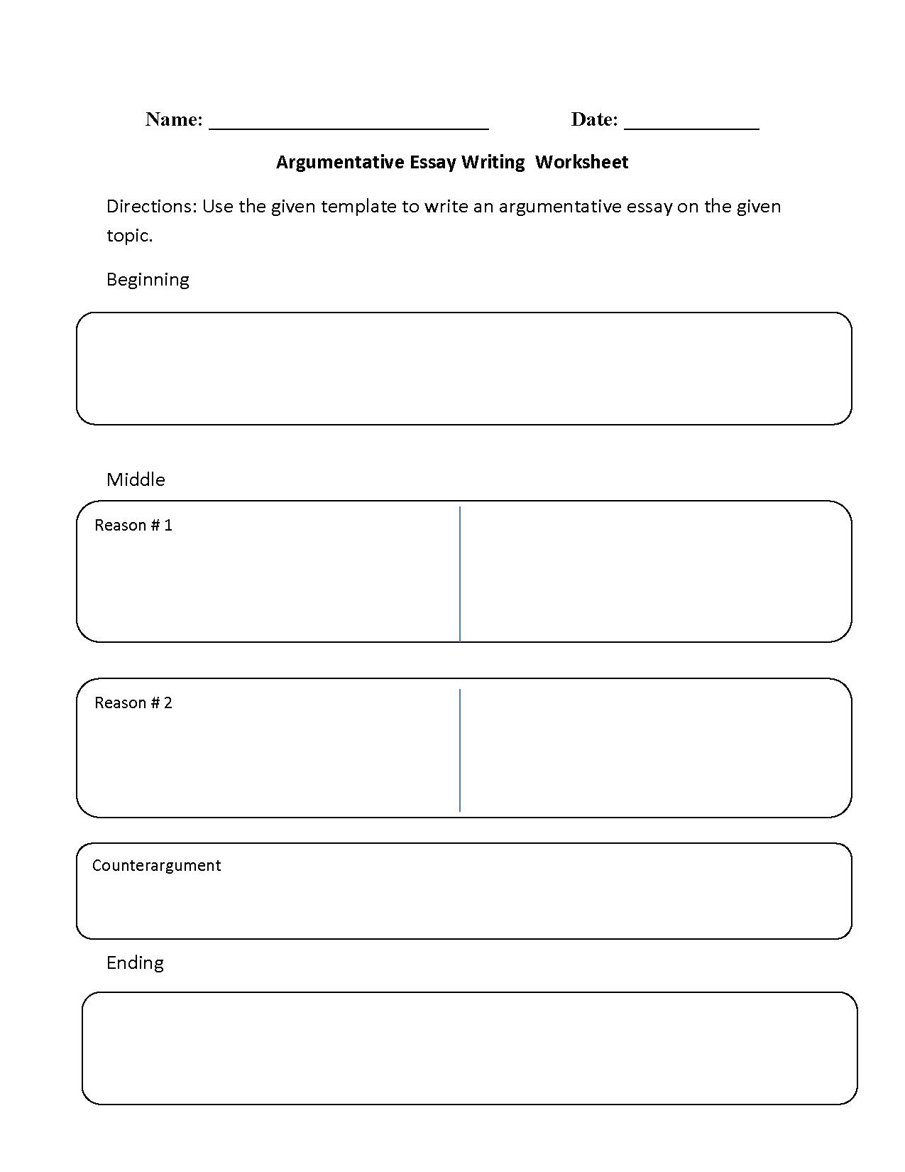 hight resolution of Essay Writing Worksheet -