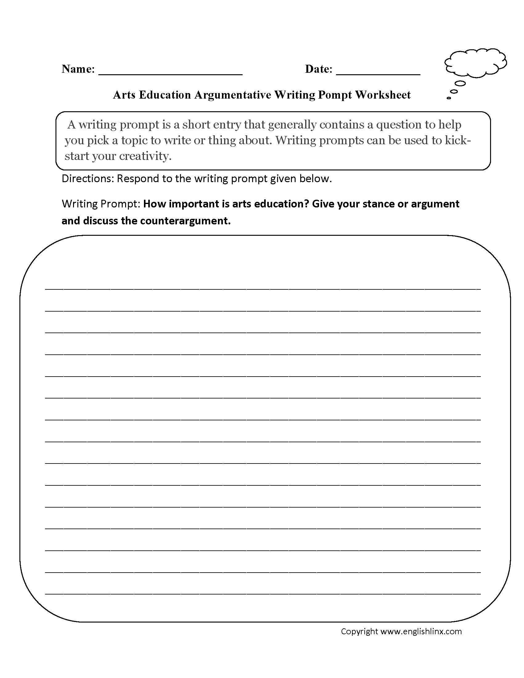 College Writing Worksheets